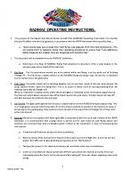 RADMAC Operating Instructions March 2021